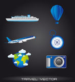Travel icons Stock Photo