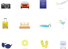Travel icons. Isolated on white background Royalty Free Stock Images