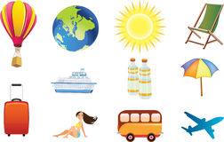 Free Travel Icons Stock Photography - 24621102