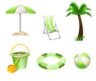 Travel icons. Set illustration on white background Stock Images