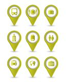 Travel icons. Isolated over white background.  illustration Royalty Free Stock Photos