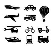 Travel icons. Over white background vector illustration Stock Photos