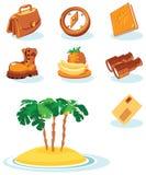Travel icons. Tropical jorney. Vector illustration stock illustration