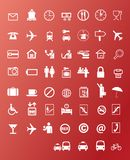 Travel icons. Vector illustration background stock illustration