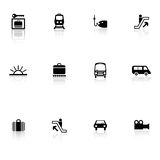 Travel icons Royalty Free Stock Photo