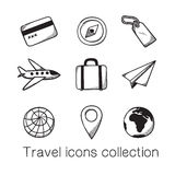 Travel icons collection. Stock Images