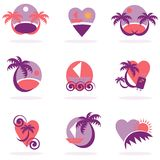 Travel icons collection vacation Royalty Free Stock Photography