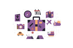 Travel icons concept illustration Royalty Free Stock Image