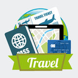 Travel icons design Royalty Free Stock Photo
