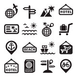 Travel vector icons Royalty Free Stock Photography