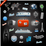 Travel icons elements set Stock Photos