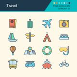 Travel icons. Filled outline design collection 11. For presentat. Ion, graphic design, mobile application, web design, infographics. Vector illustration royalty free illustration