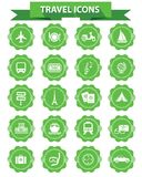 Travel icons,Green version,vector Stock Photography