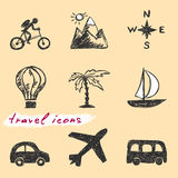 Travel icons Royalty Free Stock Photography