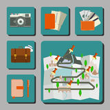 Travel Icons Infographics Royalty Free Stock Photos