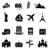 Travel icons. 16 Travel and Landmarks icons. Vector illustration vector illustration