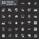 33 travel icons - 01 Royalty Free Stock Photos