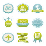 Travel icons. Over  white background vector illustration Royalty Free Stock Photo