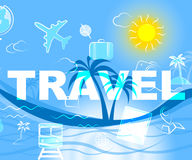 Travel Icons Represents Trip Travelled And Sign Stock Photos