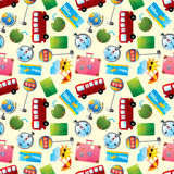 Travel icons seamless pattern Royalty Free Stock Photo