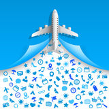 Travel icons services Stock Image