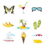 Travel icons set Stock Image