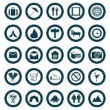 Travel icons set Stock Image
