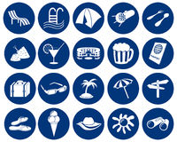 Travel icons set Royalty Free Stock Photo