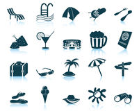 Travel icons set. Travel set of different vector web icons stock illustration
