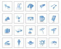 Travel icons set. Travel set of different vector web icons Royalty Free Stock Photos