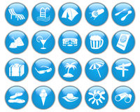 Travel icons set royalty free stock photos