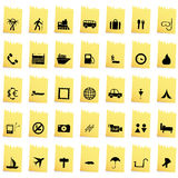 Travel icons set. Travel set of different vector web icons Royalty Free Stock Image
