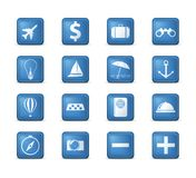 Travel icons set. Royalty Free Stock Images