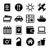 Travel Icons Set. Royalty Free Stock Photography