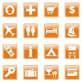 Travel icons set. Set of images of travel on a white background Royalty Free Stock Images