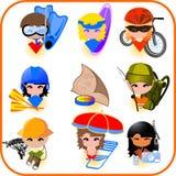 Travel icons set Royalty Free Stock Photography