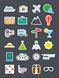 Travel   icons set. Set of 24 Travel   icons Stock Photography