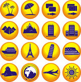 Travel. Icons set. Royalty Free Stock Photography