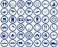 Travel icons set Royalty Free Stock Images