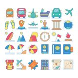 Travel icons set collections with fully vector editable. Travel icons set collections suitable with your content, fully editable vector with many elements inside Royalty Free Stock Photos