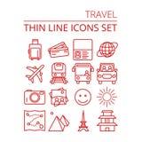 Travel icons set vector illustration