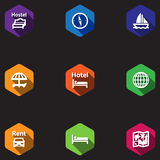 Travel icons set in a flat design Royalty Free Stock Image