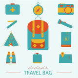 Travel icons set. Hipster style Royalty Free Stock Photo