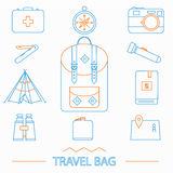 Travel icons set. Hipster style. Travel and voyage icons set Royalty Free Stock Photos