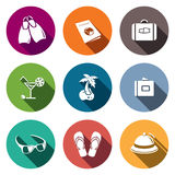 Travel Icons set Royalty Free Stock Image