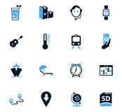 Travel icons set Stock Photo