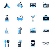 Travel icons set. Travel icon set for web sites and user interface Royalty Free Stock Photos