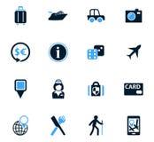 Travel icons set Stock Photography