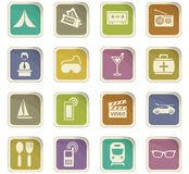 Travel icons set. Travel icon set for web sites and user interface Stock Photos