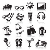 Travel icons set. Stock Photography